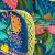 Кресло TetChair Sondrio голубой/зеленый