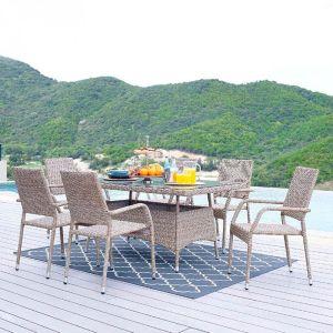 Купить Комплект мебели ЭкоДизайн 210241 обеденный (стол + 6 кресел)