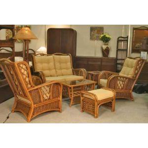 Купить Комплект мебели ЭкоДизайн Marina SMK (диван + стол + 2 кресла + оттоманка)