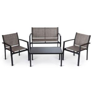 Купить Комплект мебели ЭкоДизайн Т206В кофейный (стол + 2 кресла + диван)