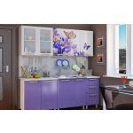 Кухонный гарнитур BTS Люкс 2м цвет ирис/фотопечать