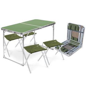 Купить Комплект мебели Ника ССТ-К2 (стол + 4 стула) цвет зелёный