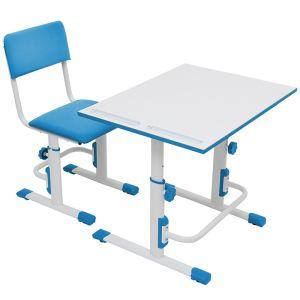 Купить Комплект детской мебели ВПК растущие парта + стул цвет бело-синий