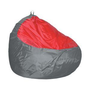 Купить Пуф Комфорт-S Груша-2 цвет серый/красный