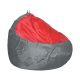 Пуф Комфорт-S Груша-2 цвет серый/красный