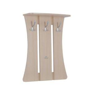 Купить Вешалка настенная Мебельсон Уют-1 цвет дуб млечный