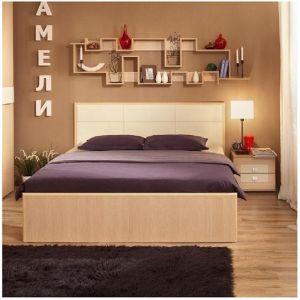 Купить Кровать ГМФ К201 160*200 с подъемным механизмом Люкс Амели цвет дуб отбеленный