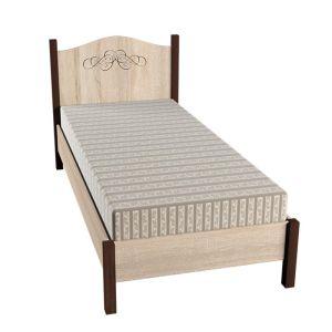 Купить Кровать ГМФ К5 90*200 без основания Адель цвет дуб сонома/орех шоколадный