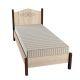 Кровать ГМФ К5 90*200 без основания Адель цвет дуб сонома/орех шоколадный