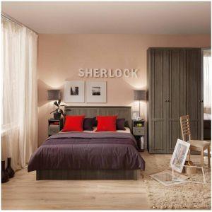 Купить Спальный гарнитур ГМФ Sherlock цвет ясень анкор темный/бодега светлый