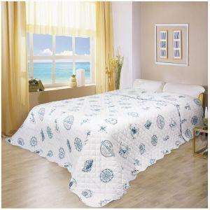 Купить Покрывало Праймтекс Волшебная ночь Добрая гавань 240*260 цвет бело-синий