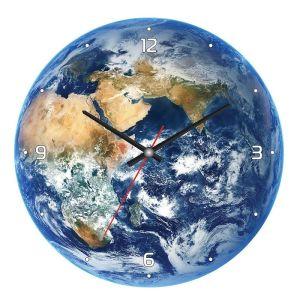 Купить Настенные часы ПостерМаркет CL-07 Планета цвет синий