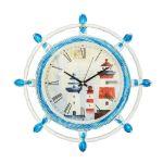 Настенные часы Русские подарки 222461 цвет белый/синий