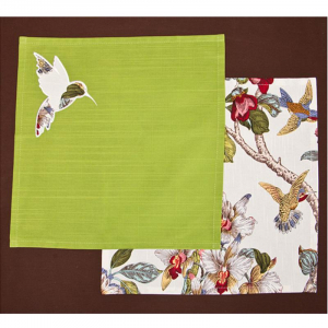 Купить Набор салфеток Арти М 850-819-4 Парадиз (2 шт.) 37*37 цвет зелёный