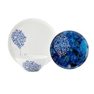 Купить Столовый набор Анна Лафарг Наутилус на 4 персоны (12 предметов) цвет белый/синий