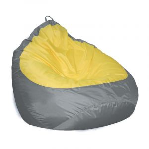 Купить Пуф Комфорт-S Груша-2 цвет оксфорд 240 серый/желтый