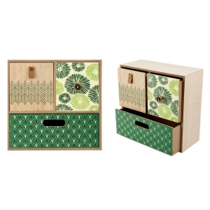 Купить Шкатулка Русские подарки 38606 26*25*11 см цвет бежевый/зелёный
