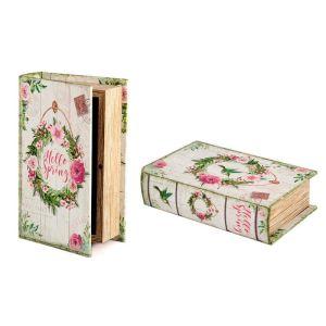 Купить Шкатулка Русские подарки 184352 Весна 17*11*5 см цвет розовый/зелёный