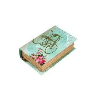 Купить Шкатулка Русские подарки 184296 Ретро 17*11*5 см цвет бирюзовый