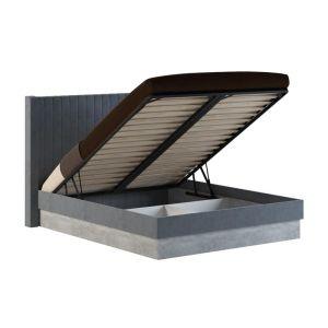 Купить Кровать АСМ-Модуль К1 160*200 с подъемным механизмом Бержер цвет метрополитан грей