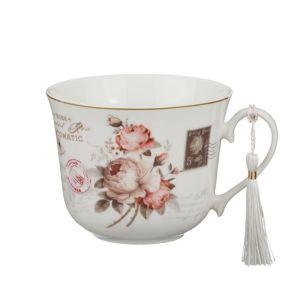 Купить Бульонница Арти М 87-094 400 мл цвет розовый/бежевый