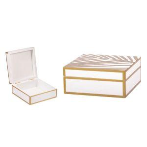 Купить Шкатулка Русские подарки 36311 14*14*6 см цвет белый/золотой