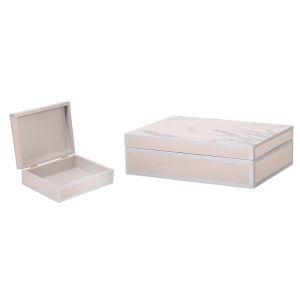 Купить Шкатулка Русские подарки 36314 20*15*6 см цвет розовый/серый