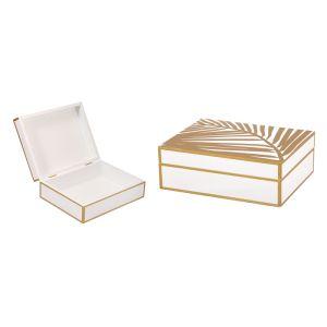 Купить Шкатулка Русские подарки 36315 23*18*8 см цвет белый/золотой