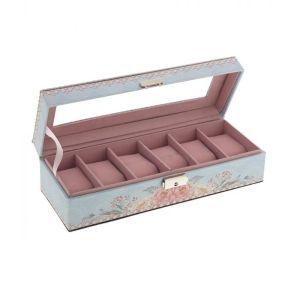 Купить Шкатулка РЕМЕКО 612508 для часов 30*11*8 см цвет голубой/розовый