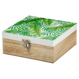 Купить Шкатулка Русские подарки 138704 17*18*7 см цвет белый/зелёный