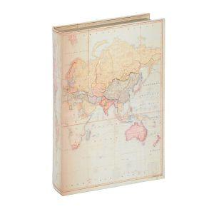 Купить Шкатулка Русские подарки 184324 Карта 26*17*5 см цвет бежевый