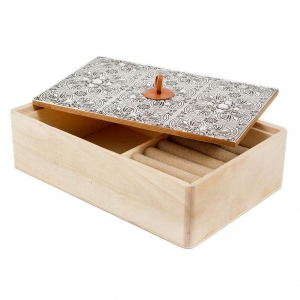 Купить Шкатулка Русские подарки 38612 22*15*6 см цвет дерево/серый