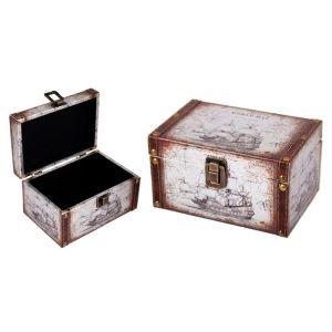 Купить Шкатулка Русские подарки 83608 Сундучок 18*12*10 см цвет бежевый/коричневый
