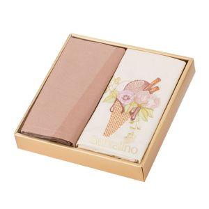 Купить Набор салфеток Арти М 850-453-18 Мороженое (2 шт.) 40*40 цвет какао/пудра