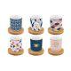 Кофейный набор Анна Лафарг EL-R0127/CMHO на 6 персон (12 предметов) Милый дом цвет синий/розовый