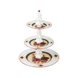 Купить Фруктовница Арти М 586-157 3 яруса Christmas collection