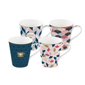 Купить Чайный набор Анна Лафарг EL-R0128/CMHO (4 кружки) Милый дом 300 мл цвет синий/розовый