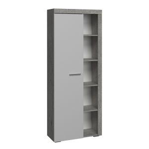 Купить Витрина Сакура ВБ2.1 Best цвет бетон/белый глянец