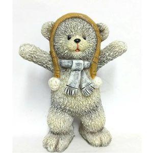 Купить Фигурка декоративная Феникс-Презент 79170 Мишка радуется 7,5*4,5*9,5 см