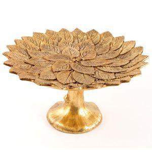 Купить Ваза Русские подарки 128002 Золотые листья 28*28*15 см цвет золото