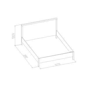 Купить Кровать ГМФ К2.2 160*200 с подъемным механизмом Bauhaus цвет бодега светлый