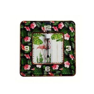 Купить Настенные часы РЕМЕКО 611761 40*5*40 см цвет зелёный/розовый