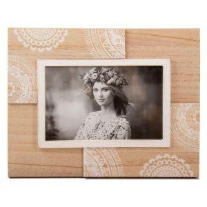 Купить Фоторамка Русские подарки 29818 Кружево 18*23 см цвет дерево/белый
