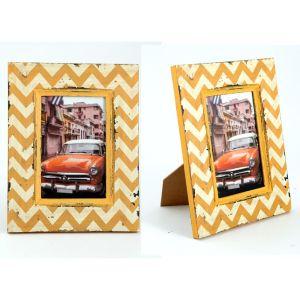 Купить Фоторамка Русские подарки 29844 Куба 18*23 см цвет желтый/белый