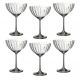 Набор бокалов Арти М 674-230 для шампанского Waterfall (6 шт.) 340 мл цвет прозрачный