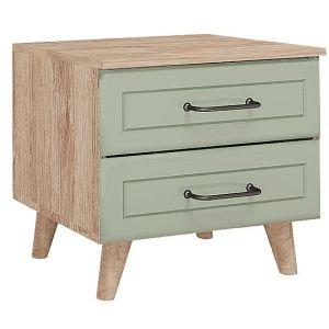 Купить Тумба прикроватная Комфорт-S М2 Ханна цвет дуб баррик/зеленая резеда