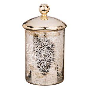 Купить Ваза Арти М 862-166 с крышкой  10*16 см цвет античное золото