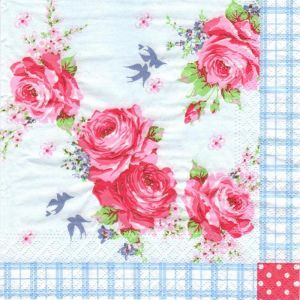 Купить Салфетки Европак Трейд 84769 Английские розы 33*33