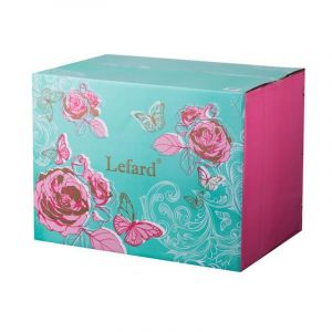 Купить Столовый набор Арти М 115-277 на 6 персон (25 предметов) цвет белый/розовый/зелёный