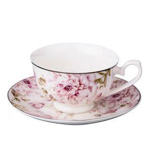 Купить Чайный набор Арти М 115-280 на 6 персон (15 предметов) цвет белый/розовый/зелёный